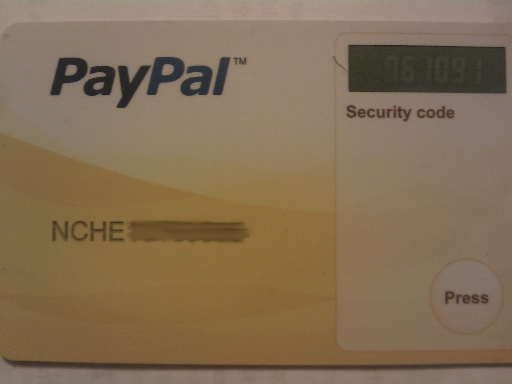 how to use paypal security key